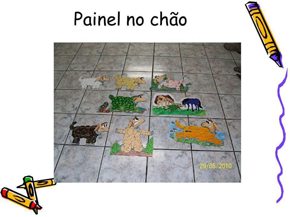 Painel no chão