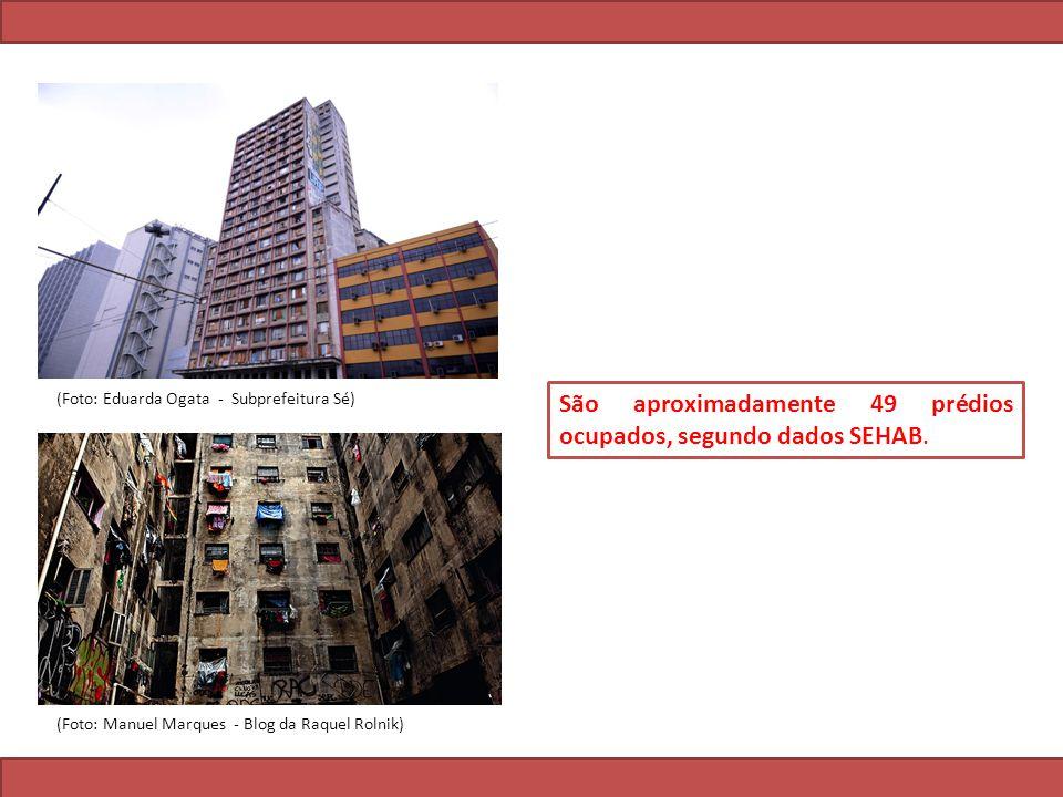 São aproximadamente 49 prédios ocupados, segundo dados SEHAB.