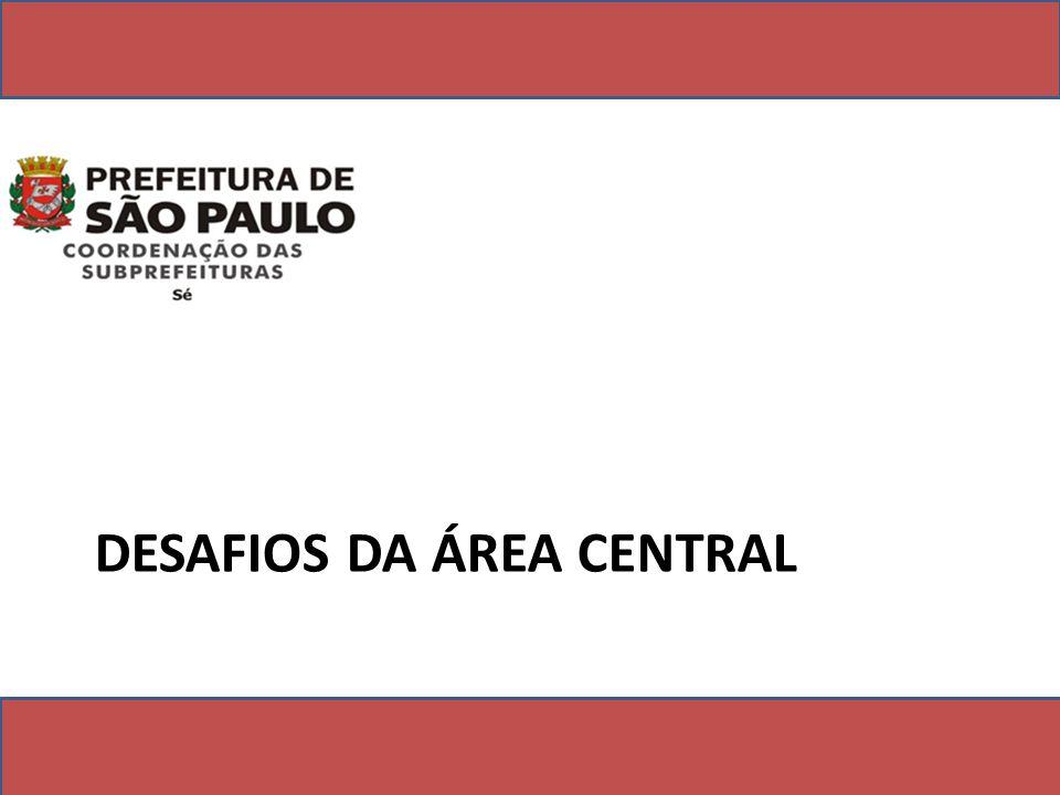 DESAFIOS DA ÁREA CENTRAL