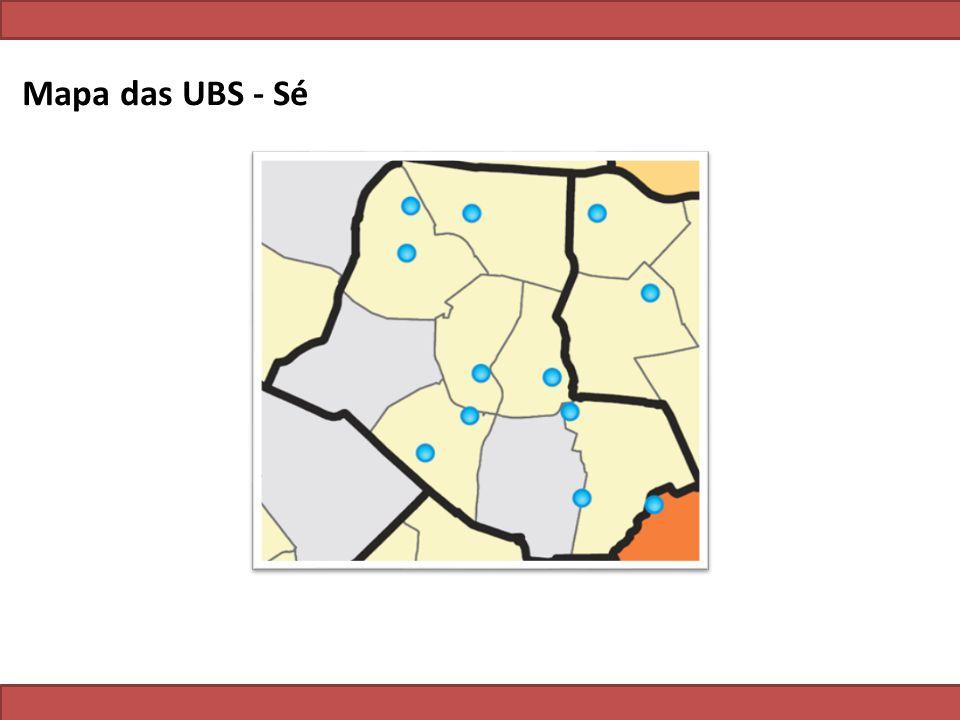 Mapa das UBS - Sé