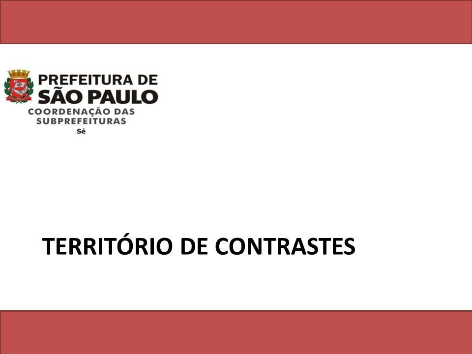 TERRITÓRIO DE CONTRASTES