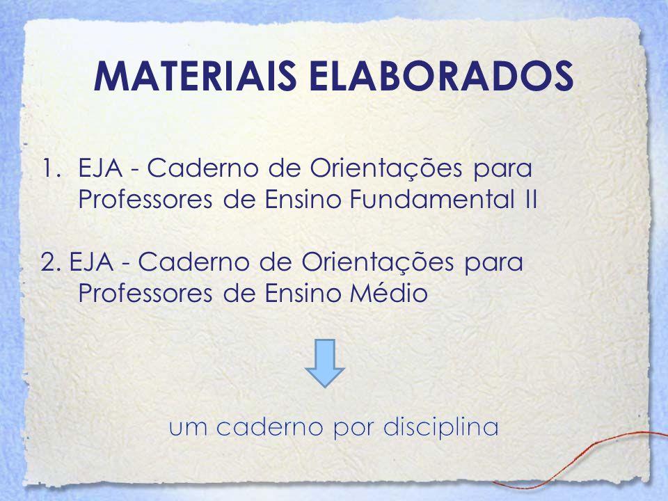 MATERIAIS ELABORADOS