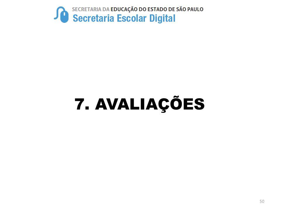7. AVALIAÇÕES 50