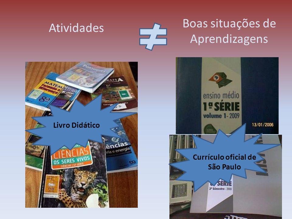 Atividades Livro Didático Currículo oficial de São Paulo Boas situações de Aprendizagens