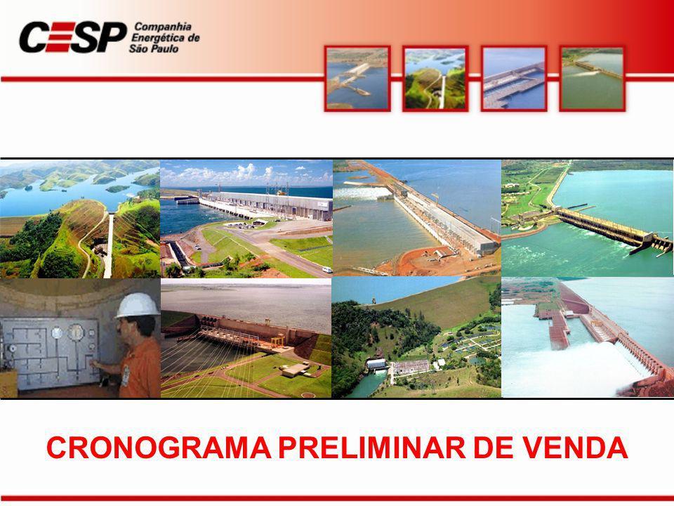 CRONOGRAMA PRELIMINAR DE VENDA