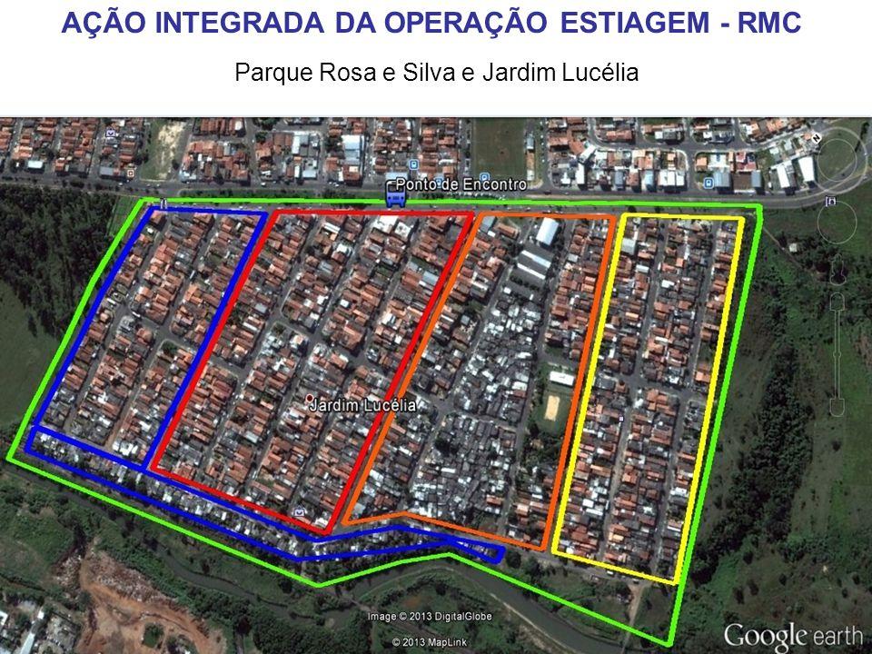 Parque Rosa e Silva e Jardim Lucélia AÇÃO INTEGRADA DA OPERAÇÃO ESTIAGEM - RMC