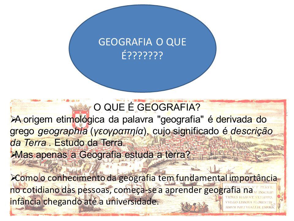 GEOGRAFIA O QUE É??????? O QUE É GEOGRAFIA? A origem etimológica da palavra