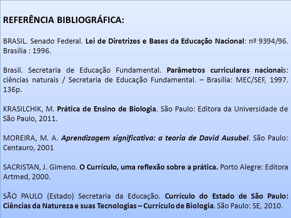 REFERÊNCIA BIBLIOGRÁFICA: BRASIL.Senado Federal.
