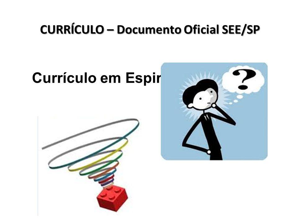 Currículo em Espiral... CURRÍCULO – Documento Oficial SEE/SP