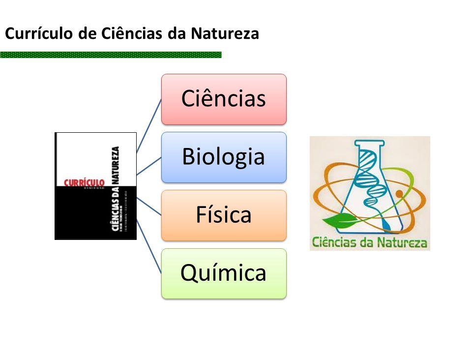 CiênciasBiologiaFísicaQuímica Currículo de Ciências da Natureza