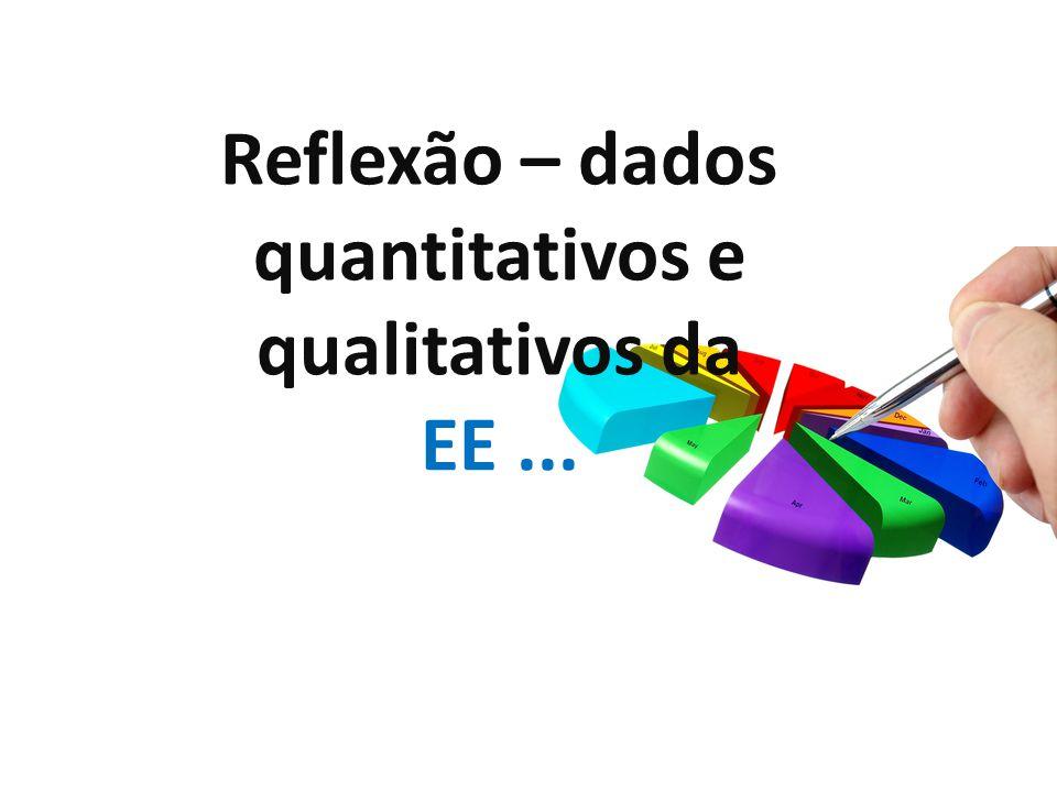 Reflexão – dados quantitativos e qualitativos da EE...