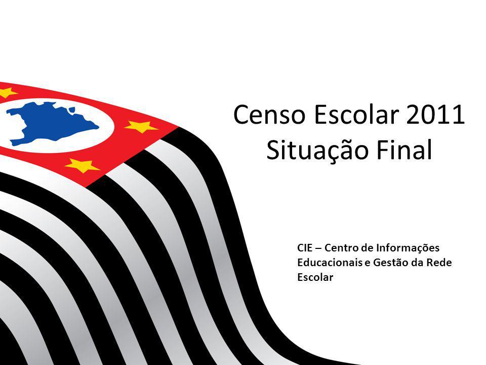 Censo Escolar 2011 Situação Final CIE – Centro de Informações Educacionais e Gestão da Rede Escolar