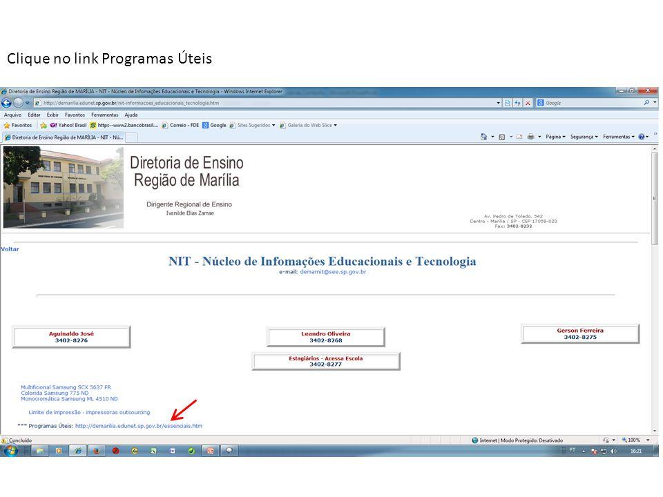 Clique no link Programas Úteis