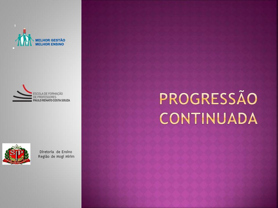 Constituição Federal – artigo 205 LDB- Lei 9394/96 – artigo 24 Deliberação CEE 09/97: Artigo 1º - Fica instituído no Sistema de Ensino do Estado de São Paulo o regime de progressão continuada, no ensino fundamental, com duração de oito anos.