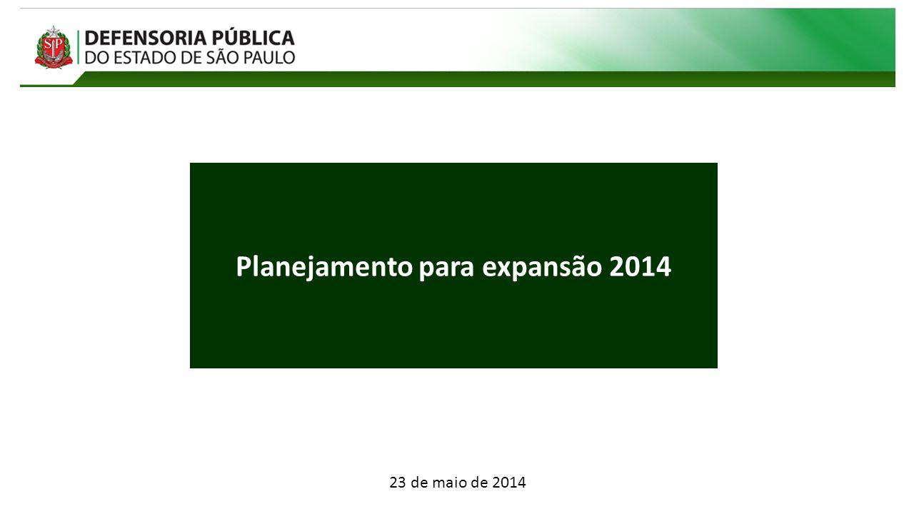 Planejamento para expansão 2014 23 de maio de 2014