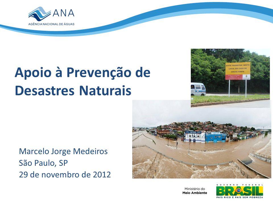 Apoio à Prevenção de Desastres Naturais Marcelo Jorge Medeiros São Paulo, SP 29 de novembro de 2012