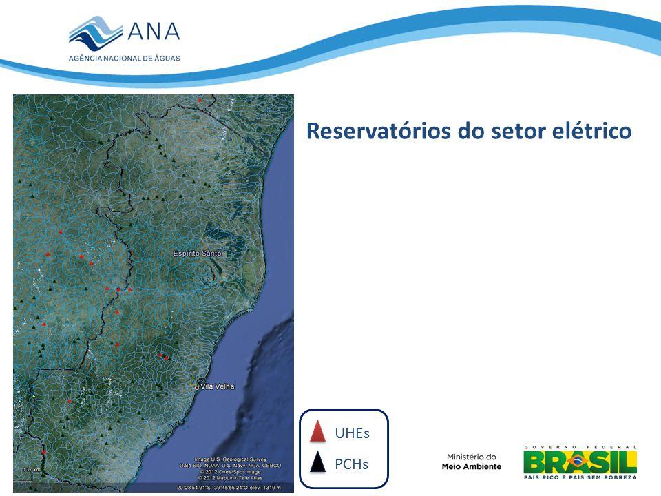 UHEs PCHs Reservatórios do setor elétrico