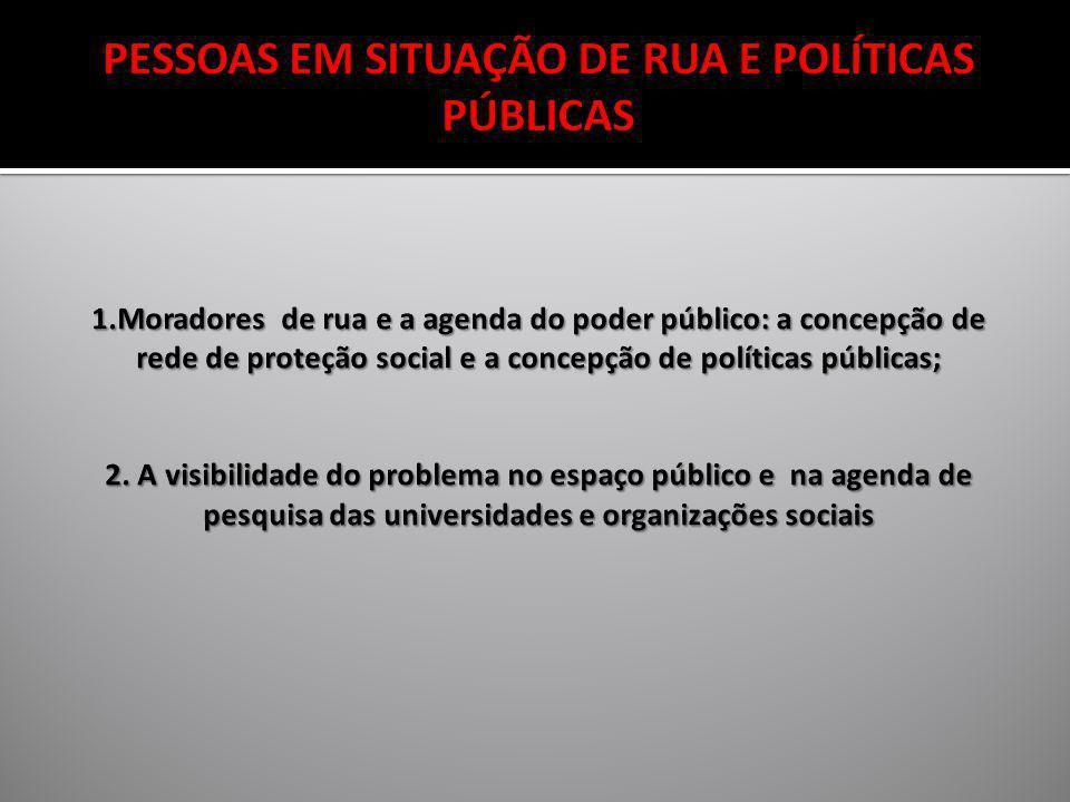 PESQUISA REALIZADA PELO MDS, 2007, EXCETO SÃO PAULO, BELO HORIZONTE, RECIFE E PORTO ALEGRE