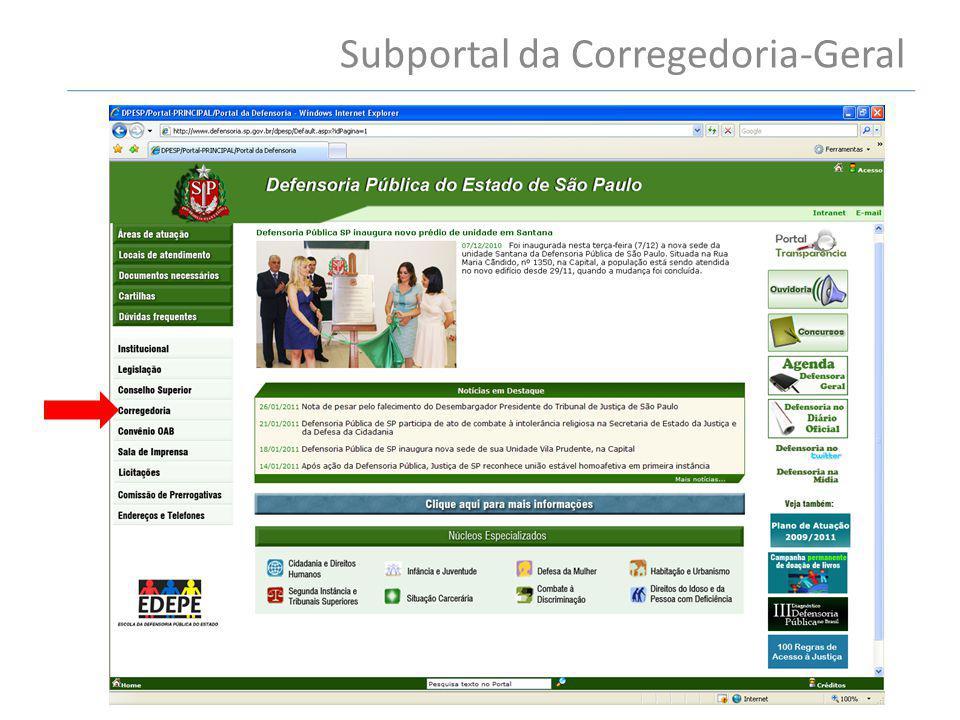 Subportal da Corregedoria-Geral