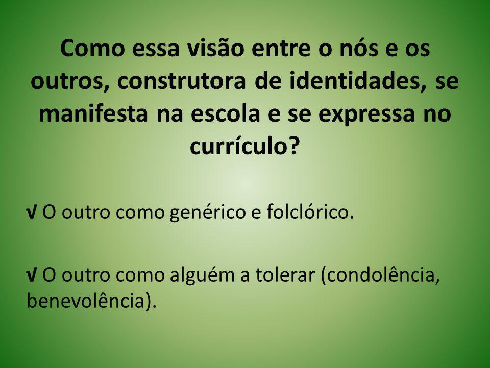 Identidade Docente Gomes (2007): identidade docente vista de forma homogênea, dada, determinada.