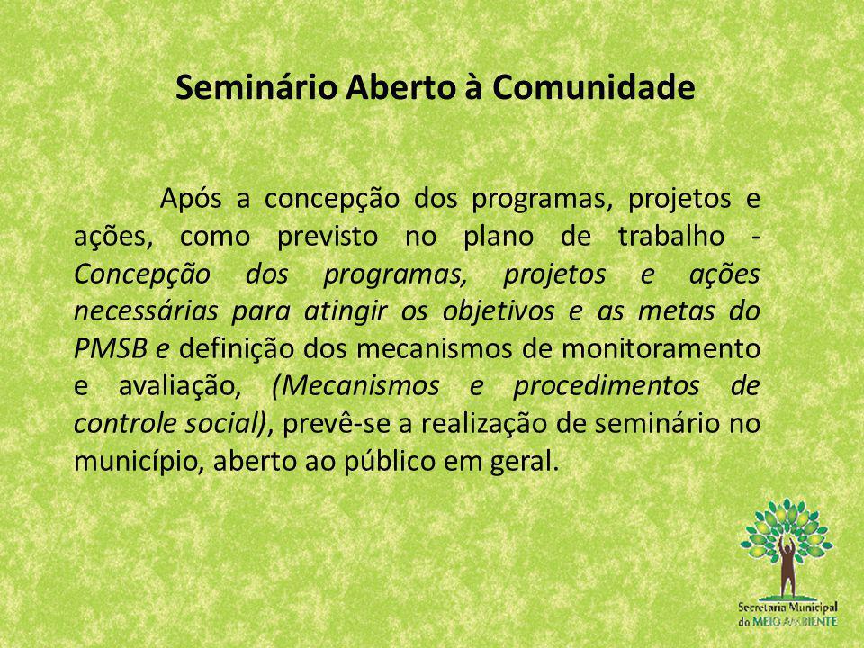 Após a concepção dos programas, projetos e ações, como previsto no plano de trabalho - Concepção dos programas, projetos e ações necessárias para atin