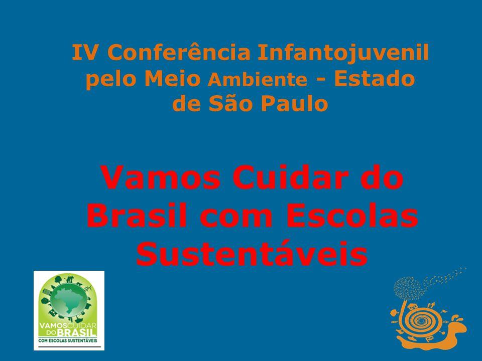 IV Conferência Infantojuvenil pelo Meio Ambiente - Estado de São Paulo Vamos Cuidar do Brasil com Escolas Sustentáveis