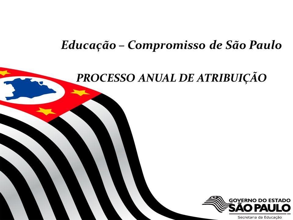 1 Educação – Compromisso de São Paulo PROCESSO ANUAL DE ATRIBUIÇÃO