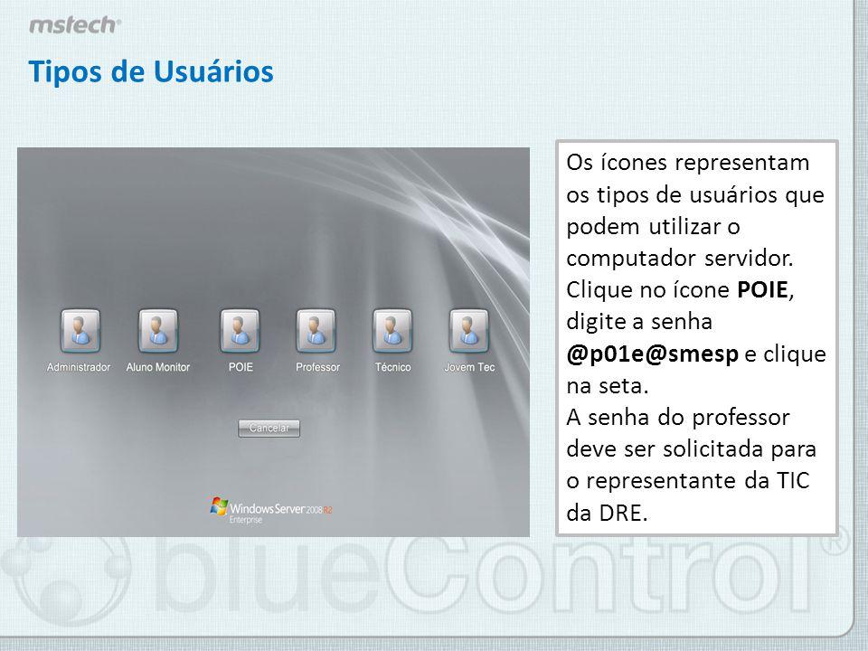 Efetuando o LOGIN no blueControl Ao efetuar o login no computador servidor, localize o ícone do programa na área de trabalho do seu computador.