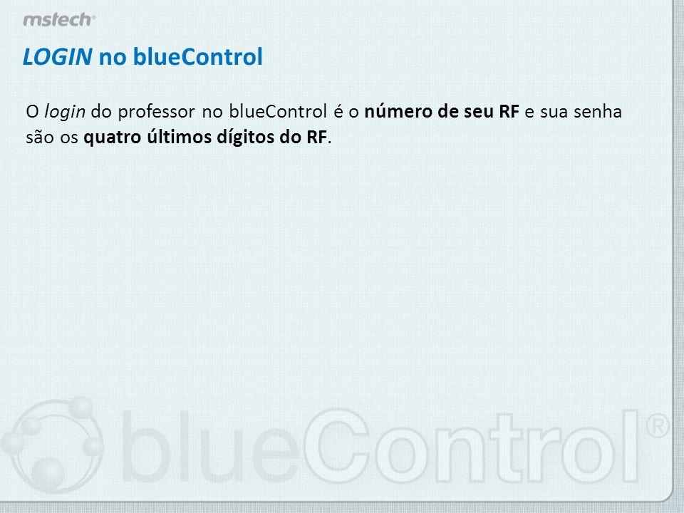 Dados do Usuário Se for o seu primeiro login no blueControl, uma tela de confirmação de dados será exibida.