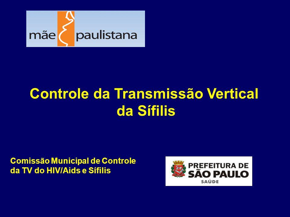 Controle da Transmissão Vertical da Sífilis Comissão Municipal de Controle da TV do HIV/Aids e Sífilis