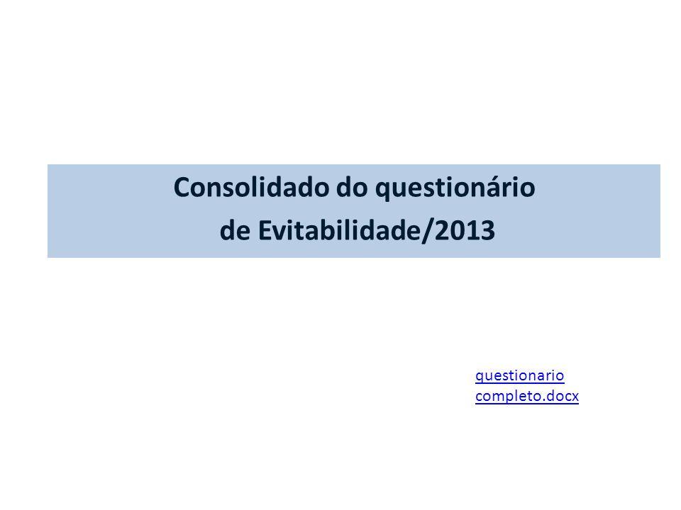 Consolidado do questionário de Evitabilidade/2013 questionario completo.docx