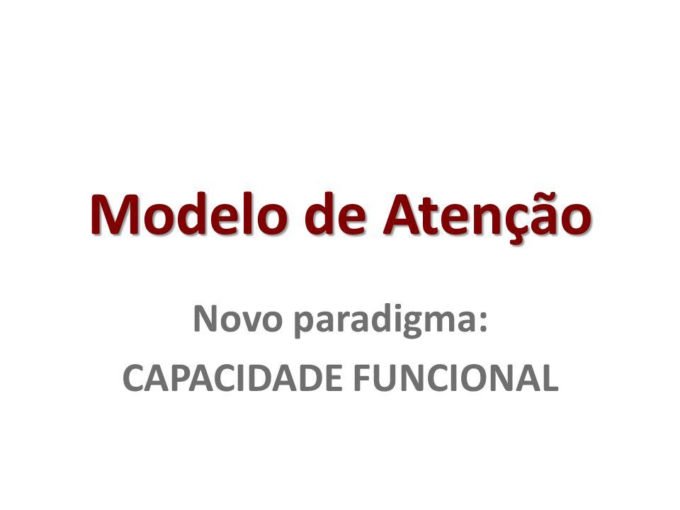 Modelo de Atenção Novo paradigma: CAPACIDADE FUNCIONAL
