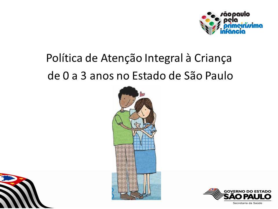 Política de Atenção Integral à Criança de 0 a 3 anos no Estado de São Paulo