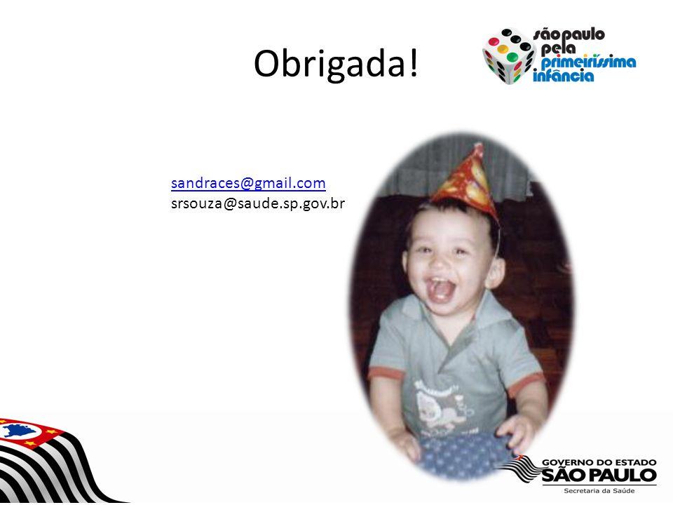 Obrigada! sandraces@gmail.com srsouza@saude.sp.gov.br