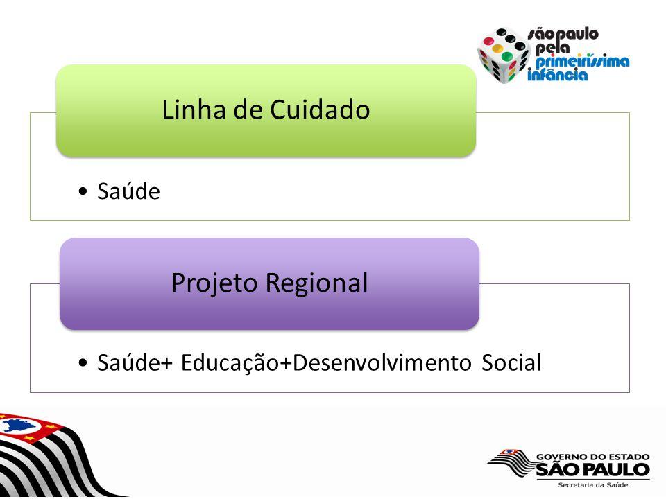 Saúde Linha de Cuidado Saúde+ Educação+Desenvolvimento Social Projeto Regional