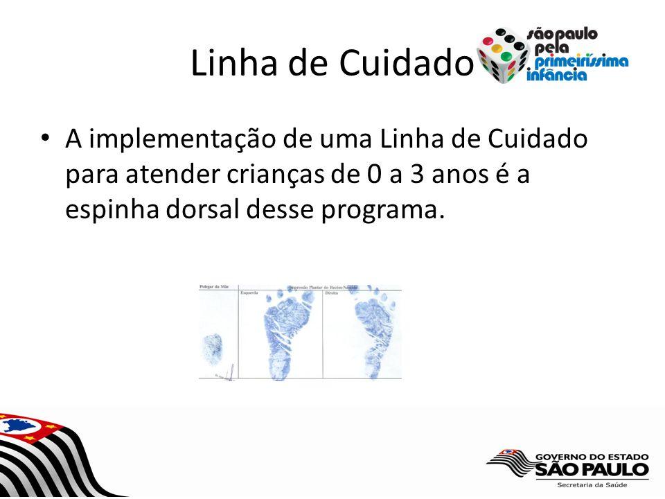 Linha de Cuidado A implementação de uma Linha de Cuidado para atender crianças de 0 a 3 anos é a espinha dorsal desse programa.