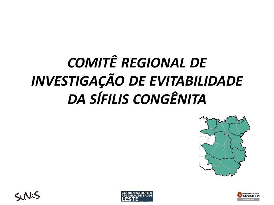 Comitê Regional de Investigação da Evitabilidade da Sífilis Congênita 04/10/2010 => Suvis CRS encaminha e-mail para as Suvis, STS e Assessoria Técnica da CRSL, informando da importância da formação do Comitê e solicitando representantes.