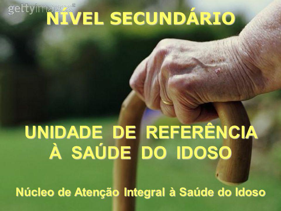 UNIDADE DE REFERÊNCIA À SAÚDE DO IDOSO Núcleo de Atenção Integral à Saúde do Idoso NÍVEL SECUNDÁRIO