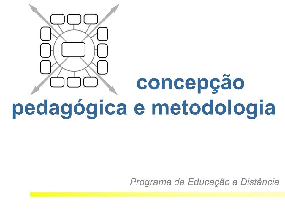 concepção pedagógica e metodologia Programa de Educação a Distância