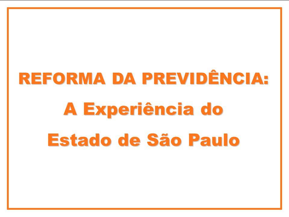 REFORMA DA PREVIDÊNCIA: A Experiência do Estado de São Paulo
