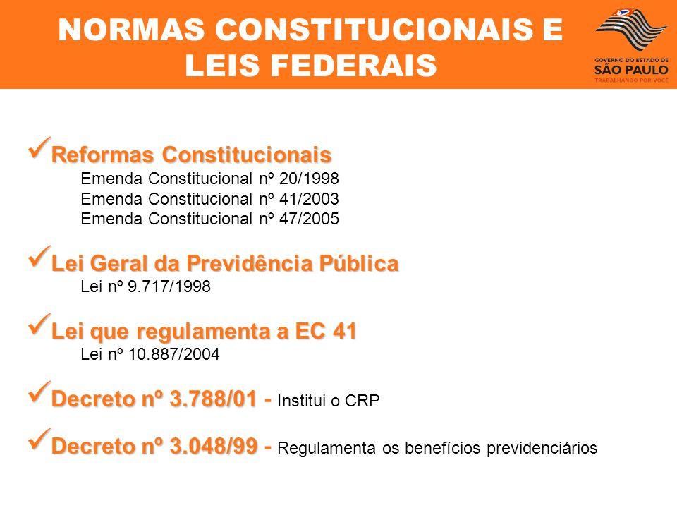 Reformas Constitucionais Reformas Constitucionais Emenda Constitucional nº 20/1998 Emenda Constitucional nº 41/2003 Emenda Constitucional nº 47/2005 L