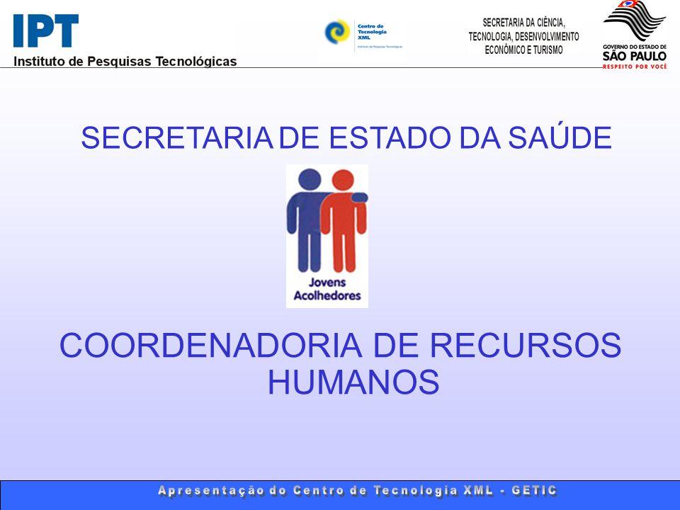 COORDENADORIA DE RECURSOS HUMANOS SECRETARIA DE ESTADO DA SAÚDE
