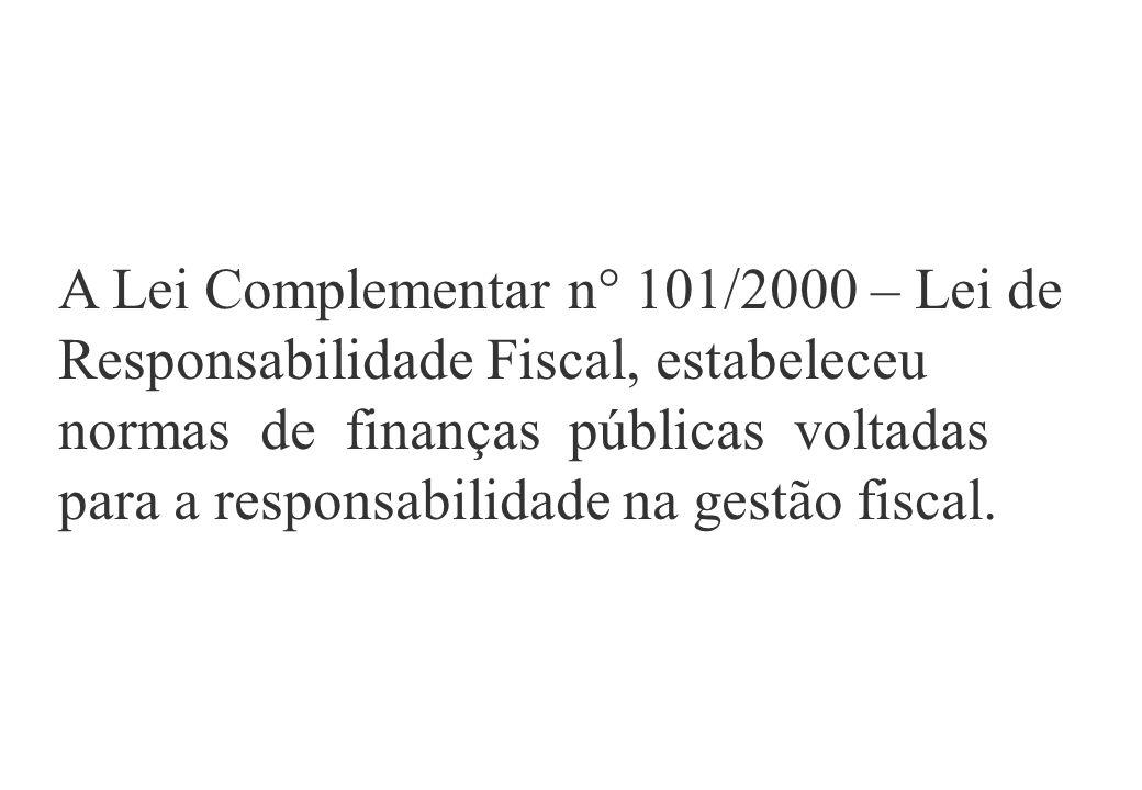 Pressuposto de uma gestão fiscal eficiente.Ação planejada e transparente.