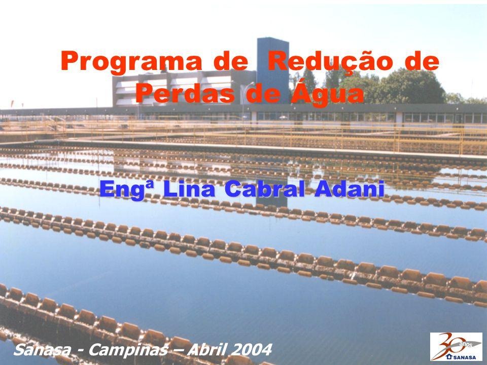Engª Lina Cabral Adani Sanasa - Campinas – Abril 2004 Programa de Redução de Perdas de Água
