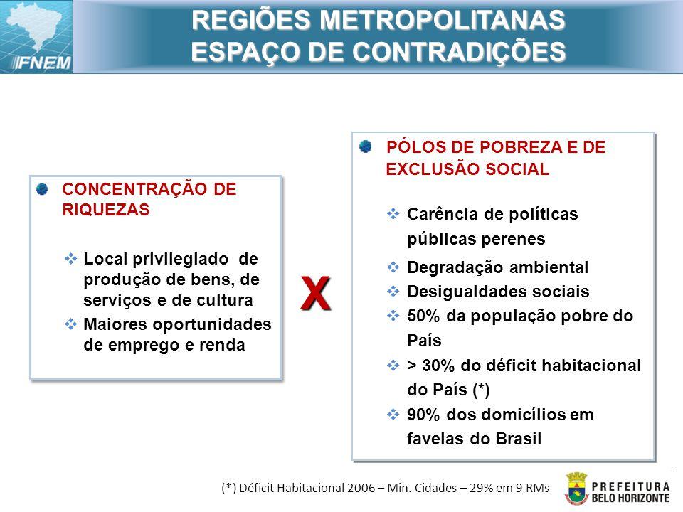 Os problemas urbanos desconhecem os limites de municípios, exigindo articulação e integração entre os três níveis de governo Instância administrativa e não política.