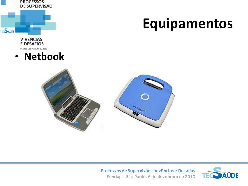 Processos de Supervisão – Vivências e Desafios Fundap – São Paulo, 6 de dezembro de 2010 Equipamentos Netbook