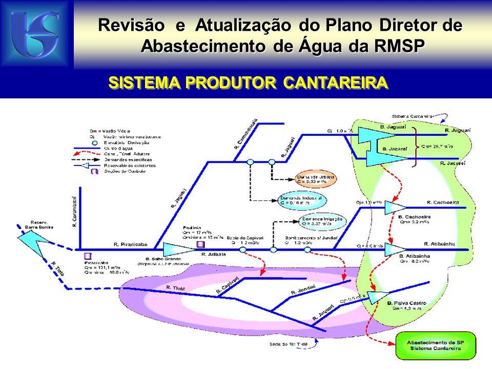 Revisão e Atualização do Plano Diretor de Abastecimento de Água da RMSP SISTEMAS PRODUTORES GUARAPIRANGA / RIO GRANDE / COTIA