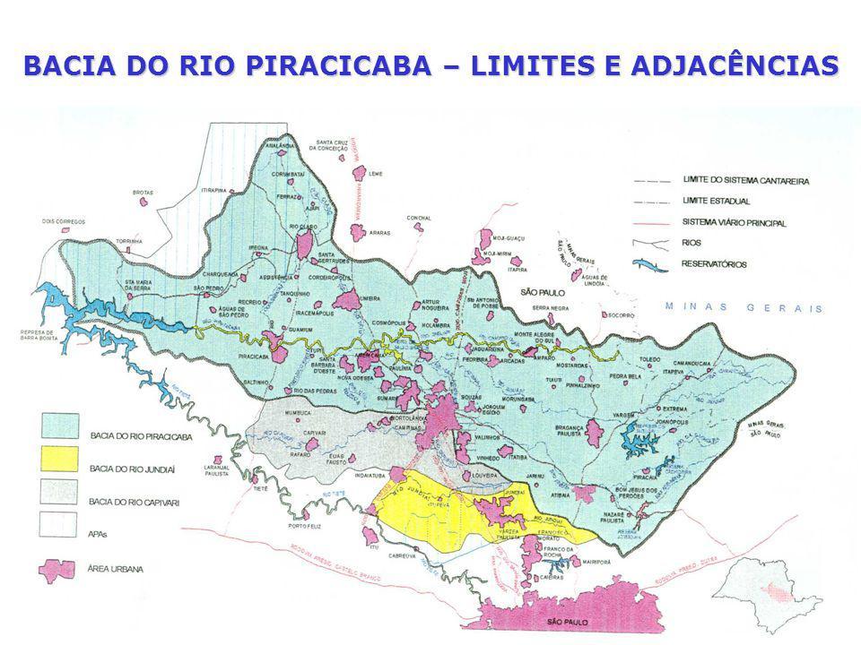 BACIA DO RIO PIRACICABA – LIMITES E ADJACÊNCIAS