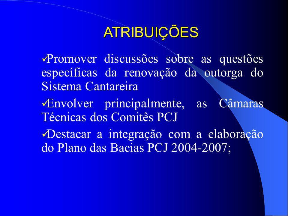 GT-Cantareira Criado pela Deliberação Conjunta dos Comitês PCJ 006/03