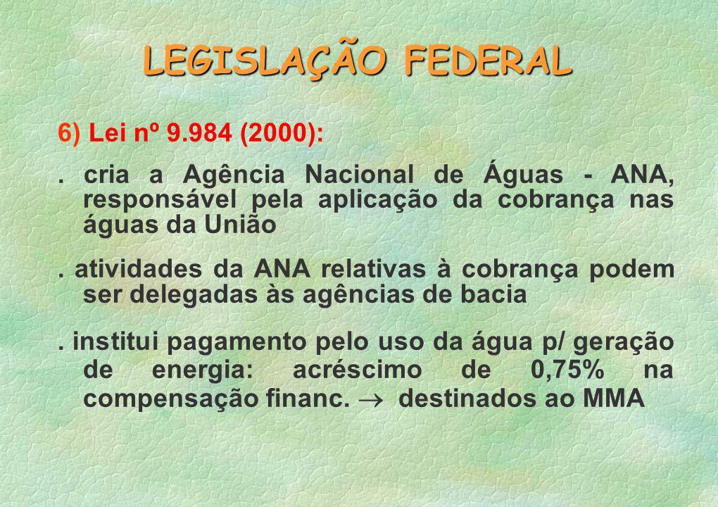 6) Lei nº 9.984 (2000):.